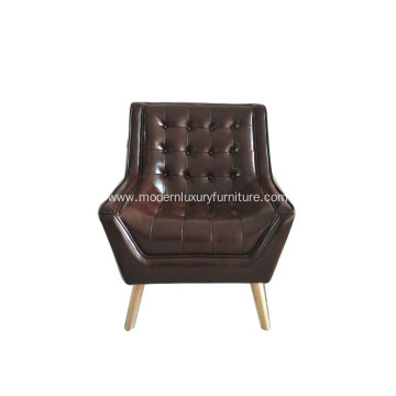 Comfortable Leather Designer Arm Chair